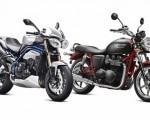 Triumph Speed Triple and Bonneville