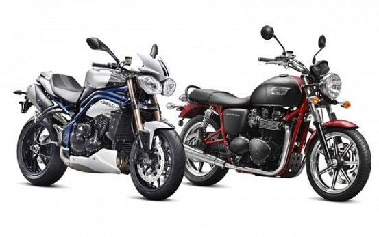 Triumph Speed ​​Triple and Bonneville