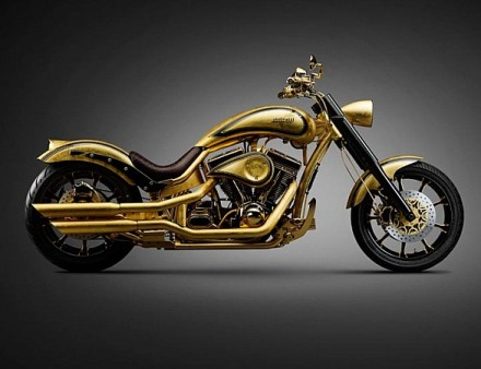 Goldfinger, gold and diamonds for the most expensive bike ...