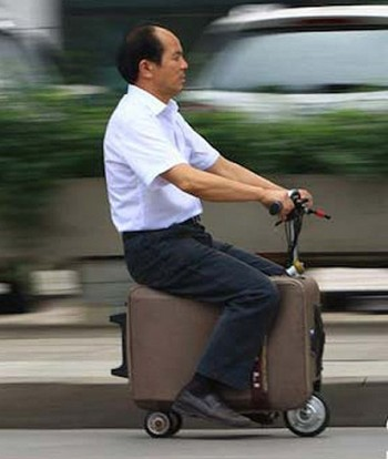 suitcase scooter
